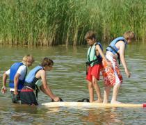 """Wodny Świat Smyka - Kolonia Sportów Wodnych  """"Nad wodą i na wodzie"""", Ryn"""
